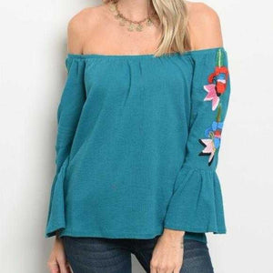 OFF SHOULDER EMBROIDER TOP - MODA ME COUTURE