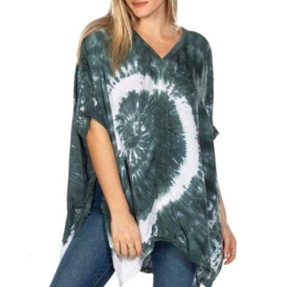 TIE-DYE PONCH TOP - MODA ME COUTURE