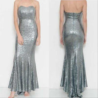 Sequin Gown Dress-Dress-Moda Me Couture