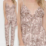 Sequin Jumpsuit - Nude-Pants-Moda Me Couture