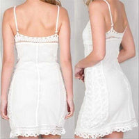 White Lace Crochet Dress-Dress-Moda Me Couture ®