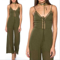 Olive Green Jumpsuit-Pants-Moda Me Couture