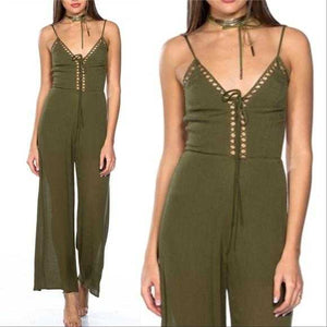 BOHO BEAUTY - OLIVE GREEN JUMPSUIT | MODA ME COUTURE
