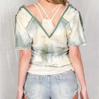 Tie Dye Bohemian Top 2 in 1-Tops-Moda Me Couture ®