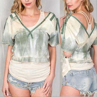Tie Dye Bohemian Top 2 in 1-Tops-Moda Me Couture
