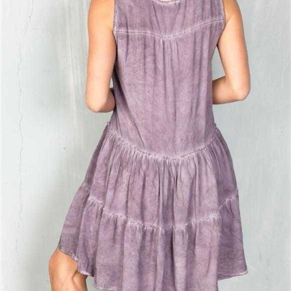 BOHO BEAUTY DUSTY MAUVE TIER SHIFT DRESS | MODA ME COUTURE