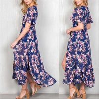 Floral Maxi Romper Purple-Pants-Moda Me Couture