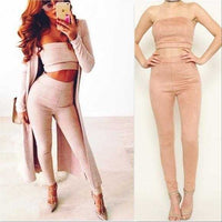 City Chic Dusty Pink 2 Piece Set-Pants-Moda Me Couture