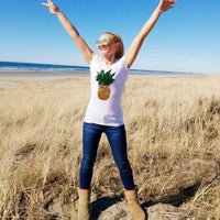 Pineapple Tee Shirt-Tops-Moda Me Couture