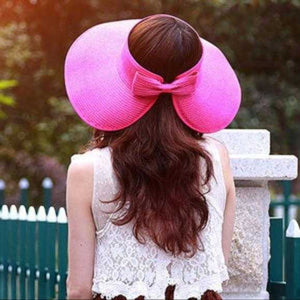 PINK ROLL UP FLOPPY HAT | MODA ME COUTURE