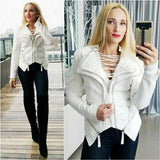 Let's Talk Pearls Faux Leather Jacket Blush White-Jackets & Coats-Moda Me Couture