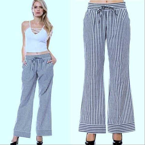 SAIL AWAY NAUTICAL STRIPED PANTS | MODA ME COUTURE