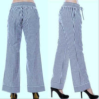 SAIL AWAY Nautical Striped Pants-Pants-Moda Me Couture ®