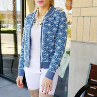 Found a Pearl Statement Denim Jacket-Jackets & Coats-Moda Me Couture
