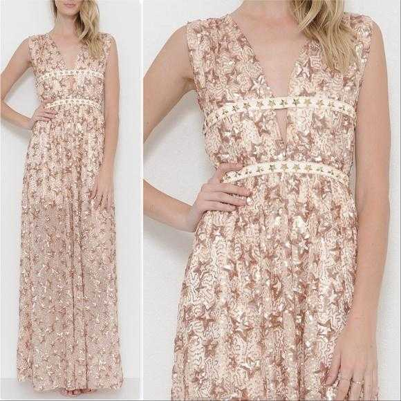 Star Sequin Gown-Dress-Moda Me Couture ®