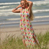 Tropical Maxi Dress Top Swim Cover-Tops-Moda Me Couture