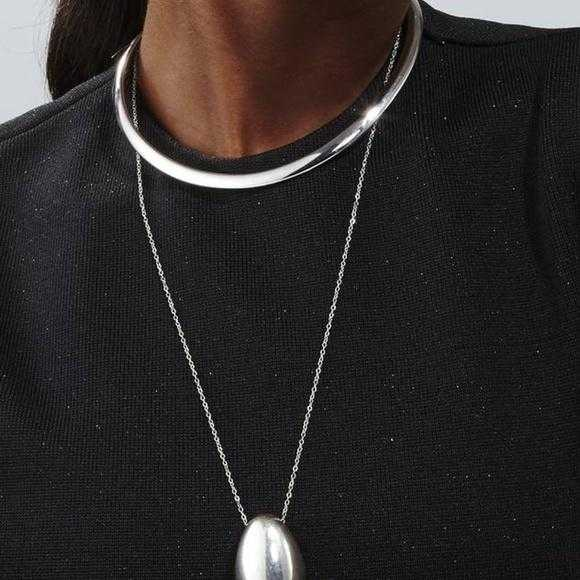 Silver Collar Necklace-Jewelry-Moda Me Couture ®