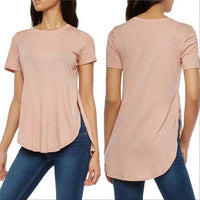 Basic Blush Tee-Tops-Moda Me Couture
