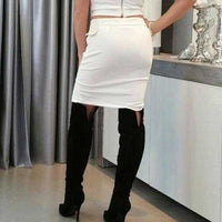 Lace up Detail Skirt-Skirt-Moda Me Couture