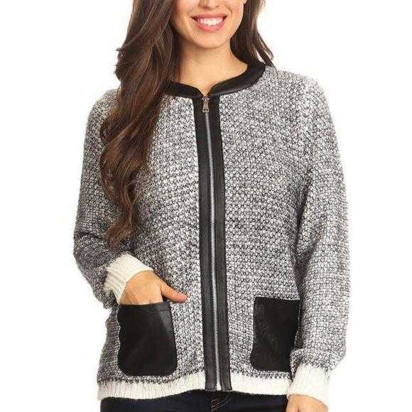 Knit Zip Up Sweater