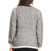 Knit Zip Up Sweater-Sweater-Moda Me Couture