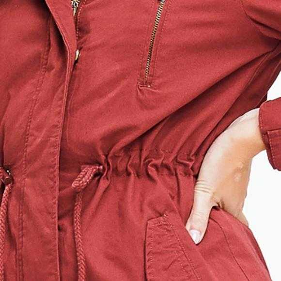 RUSTY RED ANORAK JACKET | MODA ME COUTURE