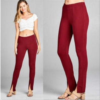 Burgundy Skinny Pants | MODA ME COUTURE