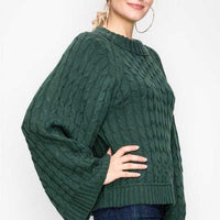 Knit Sweater Green Forest Allesia-Sweater-Moda Me Couture