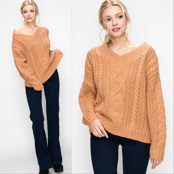 Autumn Cable Knit Sweater Brick-Sweater-Moda Me Couture