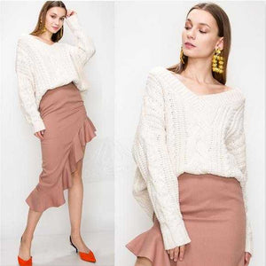 Autumn Cable Knit Sweater | MODA ME COUTURE