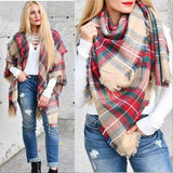 Merrily We Go Oversized Blanket Scarf-Accessories-Moda Me Couture