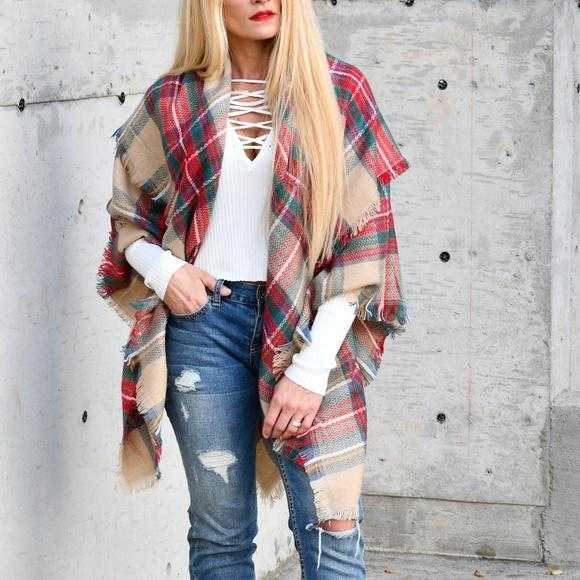 OVERSIZED BLANKET SCARF | MODA ME COUTURE