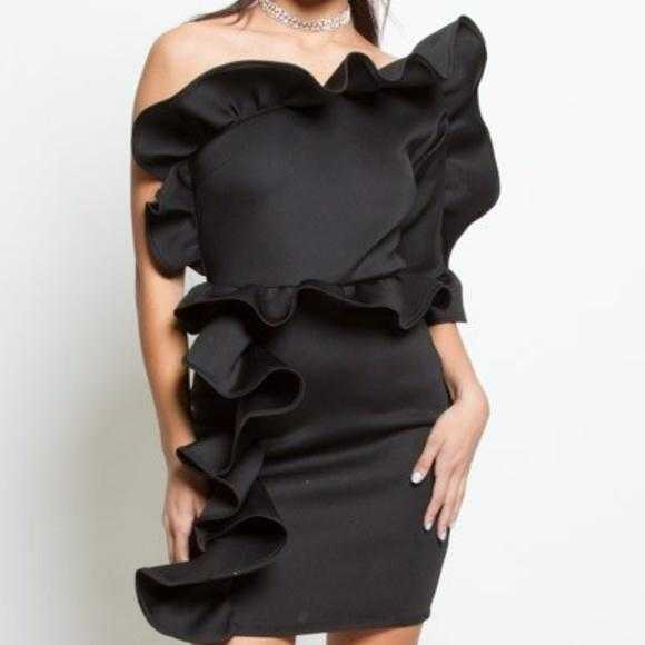 Glamour Girl Little Black Dress-Dress-Moda Me Couture ®
