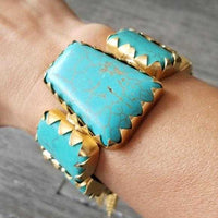 Turquoise Cuff Bracelet-Jewelry-Moda Me Couture