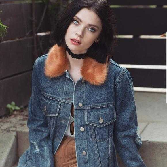 Denim Jacket with Faux Fur | MODA ME COUTURE