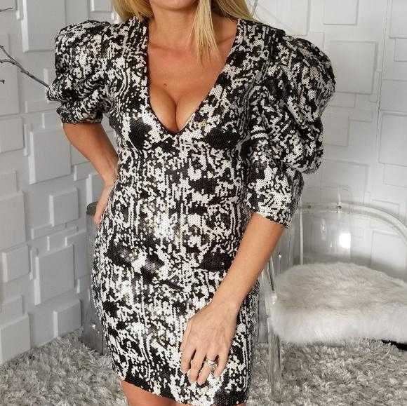 Sequin Print Dress-Dress-Moda Me Couture ®