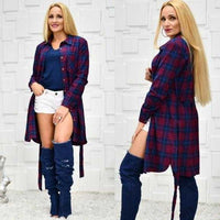 Mabel Plaid Print Top-Tops-Moda Me Couture