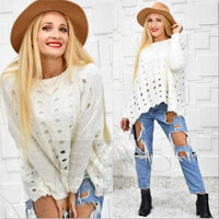 LOLA Cream Knit Sweater-Sweater-Moda Me Couture