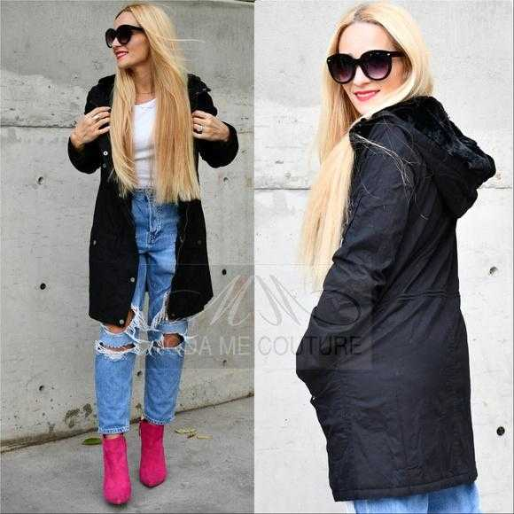 BLACK FUR LINED JACKET | MODA ME COUTURE