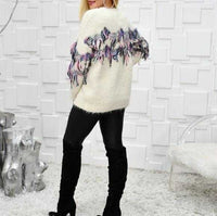 Fun in Fringe Sweater-Sweater-Moda Me Couture