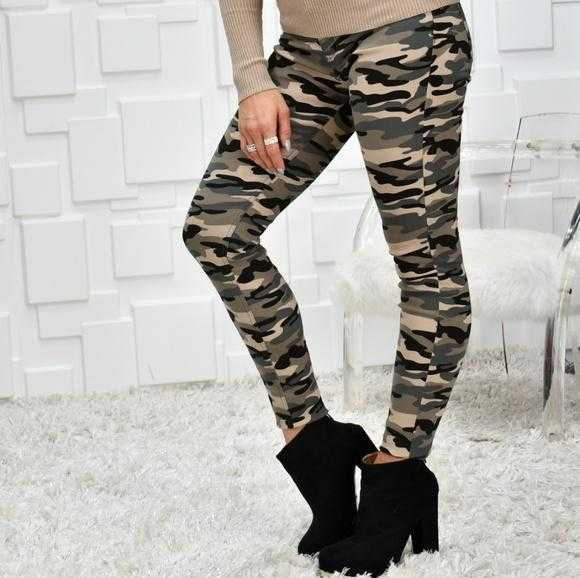 Camo Skinnies-Pants-Moda Me Couture