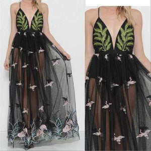 IVY Embroidered Maxi Dress