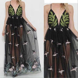 IVY Embroidered Maxi Dress-Dress-Moda Me Couture