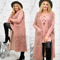 Blush Faux Fur Vest Cute-Jackets & Coats-Moda Me Couture ®