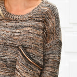 Light Knit Sweater Top-Tops-Moda Me Couture