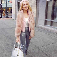 Pink Faux Fur Scarf-Accessories-Moda Me Couture