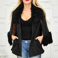 Chic Cape Coat Black-Jackets & Coats-Moda Me Couture