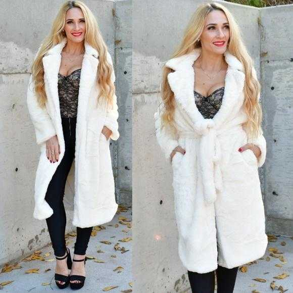 GIA - CREAM Faux Fur Coat | MODA ME COUTURE