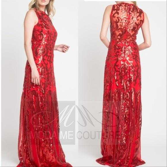 Sequin Gown-Dress-Moda Me Couture