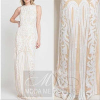 White Sequin Gown-Dress-Moda Me Couture